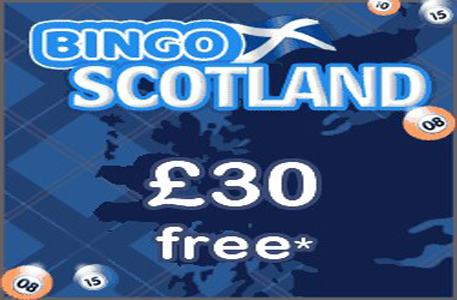 Join Bingo Scotland for Free and get  £30 Free Bingo Money+ 300% Bingo Bonus