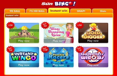 Sun bingo free slots