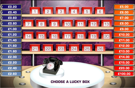 Play Deal or No Deal Online Game and get  £200 Free Cash